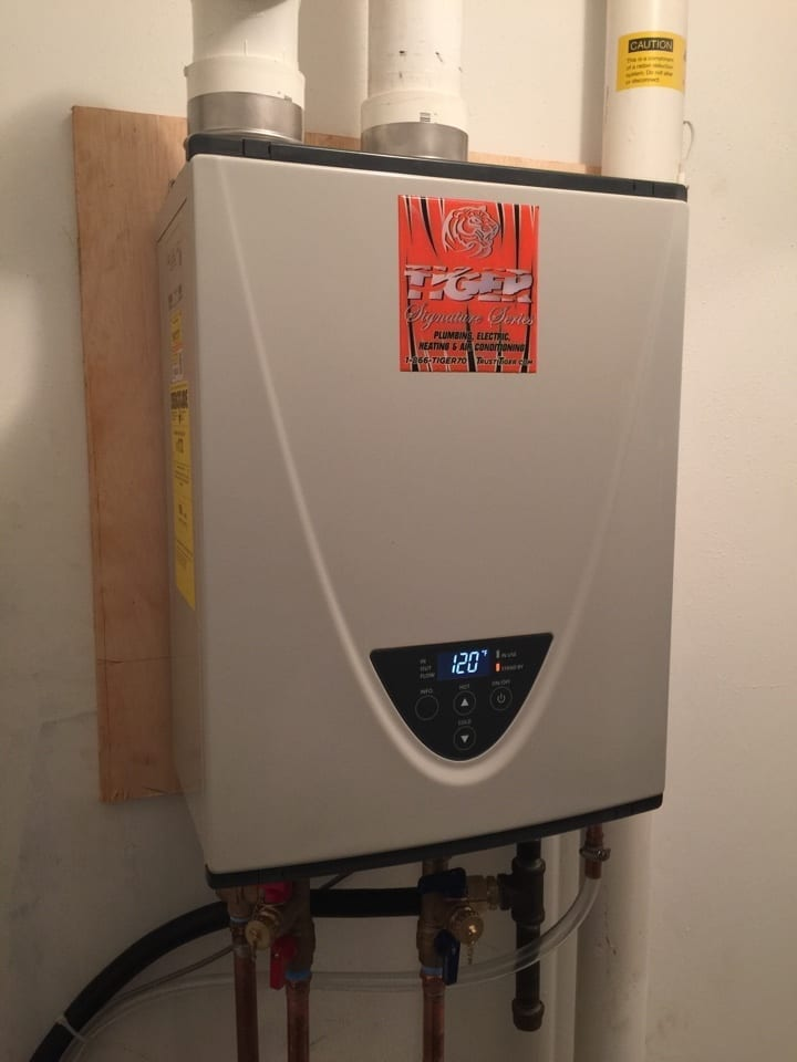hot water heater tankless