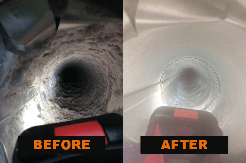 air quality duct cleaning before and after