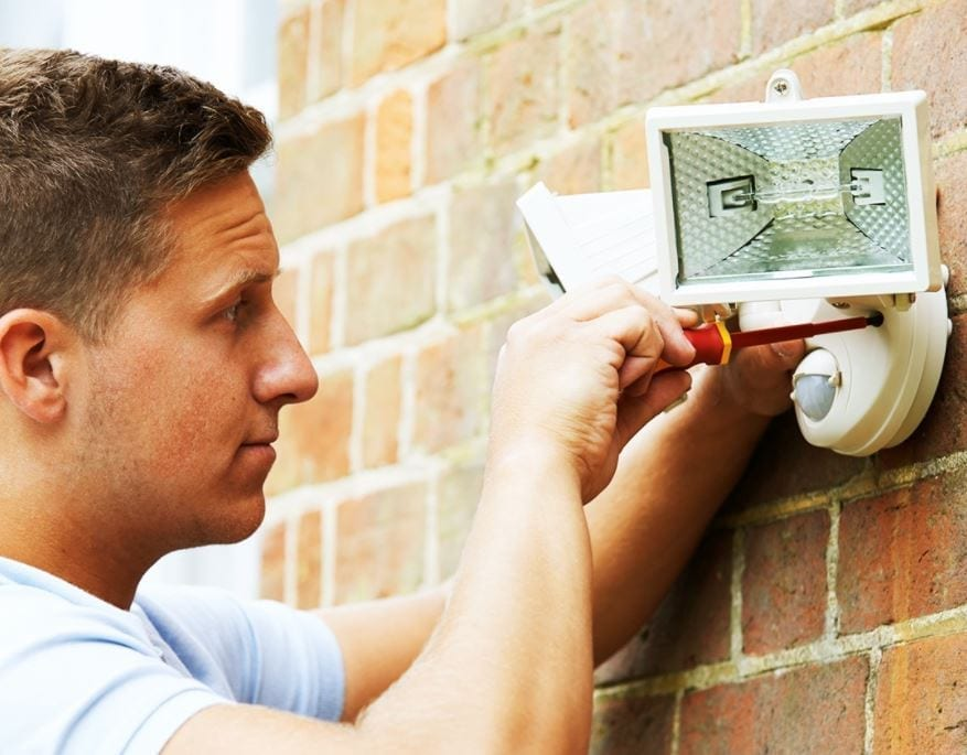 Home Maintenance Tip install outdoor lighting